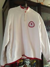 Hbc Canada White and Red Sweatshirt Womens SIZE L