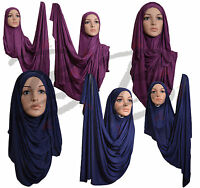 ♡♡convenient Jersey Hijab♡♡ High Quality Stretchy Cotton Scarf Shawl Pullover