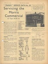 Morris Commercial LC Type 25-30 cwt Motor Trader Service Data No. 58 1939
