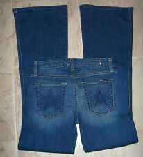 New $178 7 FOR ALL MANKIND BLUE A POCKET BOOTCUT FLARE PETITE SHORT JEAN 24 25