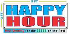 HAPPY HOUR Banner Sign NEW Larger Size Best Quality for The $$$ 4 Bar Restaurant
