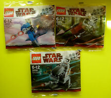 LEGO 3 x STAR WARS 30004 30005 30006 Clone Walker Battle Droid Speeder Bike
