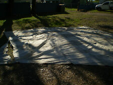 LARGE HEAVY DUTY OFF-WHITE EX-SHADE SAIL / SHADECLOTH - USED