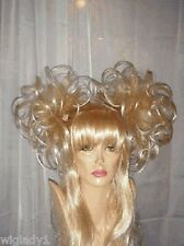SIN CITY WIGS BLONDE BABE LONG STRAIGHT BANGS LAYERS PIGTAILS CUTE SEXY STYLE!