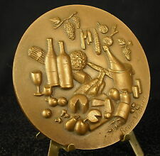 Médaille La France à votre table French wine cheese food  par R Vautier Medal 勋章