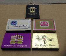 5 x Vintage Singapore Hotels Match Box Only___NO MATCHES  #2