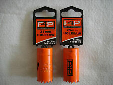 DEAL OF TWO! 25mm Holesaws - Bi-metal HSS - By F4P