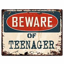 PP0953 Beware of teenager Plate Rustic Chic Sign Home Room Store Wall Decor Gift
