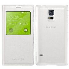 Véritable Samsung Galaxy S5 S View à clapet couverture étui Blanc EF-CG900BWEGWW