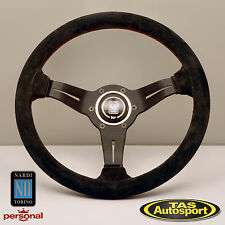 Nardi Steering Wheel DEEP CORN SUEDE Leather Dish 330mm 6069.33.2094