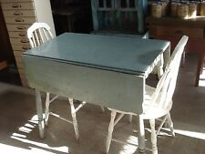 Vintage Drop Leaf Primitive Table/Two Chairs