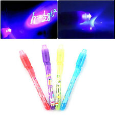 UV Invisible Ink Marker Pen Security Secret Pen + UV LED Light - Party Bags 5hk