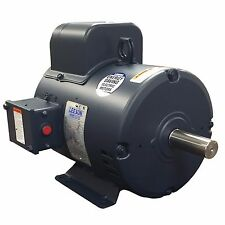 Leeson 132044.00, 7.5 HP Electric Motor, 3450 RPM, 184T Frame, Single Phase