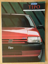 Fiat Tipo Orig 1988 1989 Uk Mkt folleto de ventas