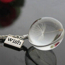 Dandelion Crystal Ball Necklace Represents A Couldn't Stay Love New Year Gift