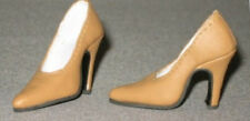 "TAN Doll Shoes GENUINE LEATHER High Heel Pumps fit Ellowyne Tyler Candi 16"", NEW"