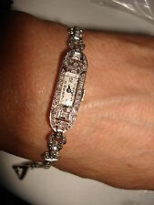 Platinum 14K Gold Diamonds 17 Jewels Swiss Mechanical ROYCE Watch By S. Kocher