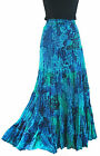 LADIES LONG HIPPY BOHO GYPSY MAXI TIERED SKIRT MULTI-COLOUR 3808 COTTON 8-14