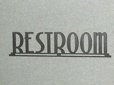 "RESTROOM ART DECO STYLE WOODEN 16"" SIGN"