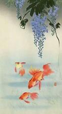 GOLDFISH AND WISTERIA,  FROM JAPANESE PRINT BY OHARA KOSON, MAGNET