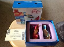 Miniature Shoes.  Raine's Just The Right Shoe Club.  Fire & Water. In Box. 2 Pr.
