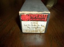 Imperial Song Record: Piano Roll Marimba X5915 - LET US WALTZ AS WE S 131002003
