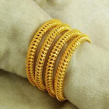 Indian Ethnic 18k Goldplated Bracelet Bangles Women Traditional New Jewelry 2*8