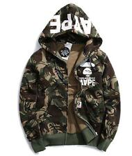 2016 Men's Bape Camo Design Hoodie Zipper AAPE Icon Jacket Cotton winter Coat