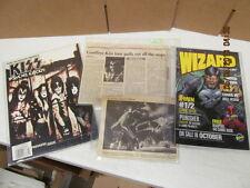 Kiss Psycho Circus Memorabilia Lot Comic Magazines and News Paper clips