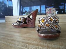 Two Lips NWT 8B Gold Jeweled Sexy Slide US 8 7.5