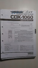Yamaha cdx-1060 service manual original repair book cd player compact disc
