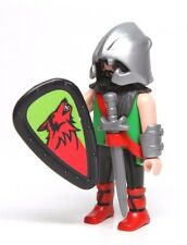 Playmobil Figure Castle Knight Barbarian w/ Helmet Wolf Shield Sword 5794