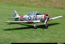 "1/4 Scale AT6 TEXAN  101""  Giant Scale RC AIrplane Printed Plans"