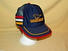 Mustang GT Hat Ford Vintage Baseball Cap Summer Mesh Blue Red White Yellow USA