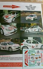 Decals 1/43 réf 549 Peugeot 206 S1600 Illiev Monte Carlo 2003