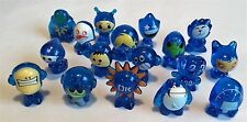 GOGO'S CRAZY BONES – BRIGHT BLUE GLITTER - 17 X FIGURES