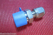 "SSP Grip® 1/4""Tube OD x 3/8""NPT Male Pipe 316 Stainless Steel Straight Connector"