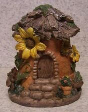"Garden Accent Fairy or Gnome Sunflower House NEW 7"" tall"