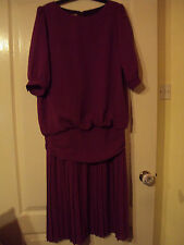 Gorgeous fuschia pink polyester dress-size10-nice for weddings/parties/Christmas