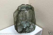 US Mosquito head net jungle hat net nylon olive green fine no see um each E7201