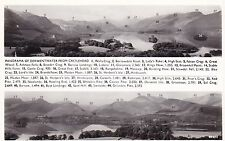 Cumbria Postcard - Panorama of Derwentwater from Castlehead - Real Photo   A1870