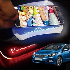 LED Wireless Battery Charger Cup Holder Door Catch Plate for KIA 2013-17 Cerato