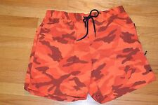 Tommy Hilfiger Orange Camouflage Pattern Men's Swimming Trunks Size: Large NWT