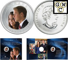 2011 Colorized 25-Cent Coin Wedding Celebration - William and Catherine (12808)