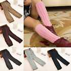 New Women Lady's Leg Warmer Crochet Knit Winter Warm Legging Boot Cuffs