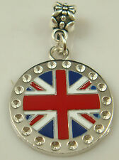 hot European Silver CZ Charm Beads Fit sterling 925 Necklace Bracelet Chain smz1