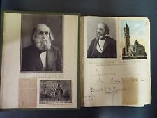 Folio Scrapbook of 150+ Clergy Autographs, Photos, and Letters - 1800s-1927