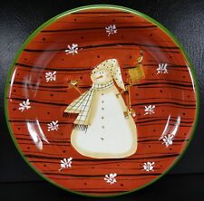 Noble Excellence Snow Mates Dinner Plate Christmas Red Cream