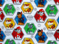 "24"" REMNANT  PAW PATROL  100% COTTON FABRIC  CHASE RUBBLE SPIN MASTER  CHILDRENS"