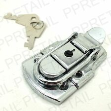 LARGE CHROME TOGGLE CASE LOCK Trunk Box Chest Suitcase Locking Latch Catch NEW